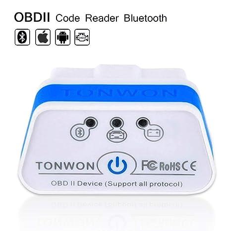 TONWON OBD2 Bluetooth Mini OBD2 KFZ Auto Interface Diagnoseger/ät f/ür Android