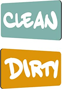 KitchenTour Dishwasher Magnet Clean Dirty Sign Upgrade Strong Magnet Sign Double Sided Flip - With BONUS Magnetic Plate - Reversible Indicator Suitable for All Dishwasher (YELLOW & GREY)