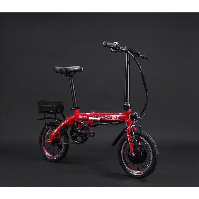 Rico Bit Top 014 - Bicicleta eléctrica plegable bicicleta de 250 W * 36 V 8 Ah LG recargable, ruedas de 14