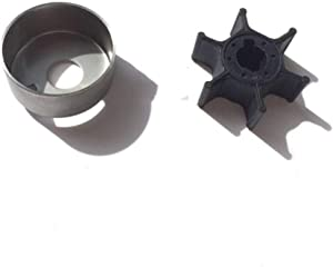 Boat Motor Insert Cartridge 6L5-44322-00 + Water Pump Impeller 6L5-44352-00 for Yamaha Outboard F 2HP 2.5HP 3HP M 2/4 stroke Engine