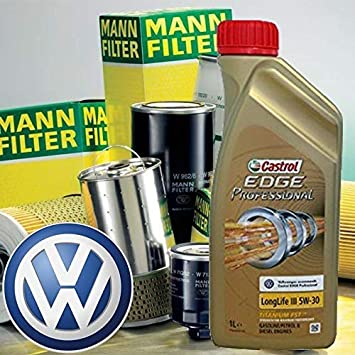 Kit con Aceite de Motor Castrol Edge Professional LL W-30 + filtros Mann Golf Vi/Cabrio Vi/Golf Plus -1.4 TSI/08-: Amazon.es: Coche y moto