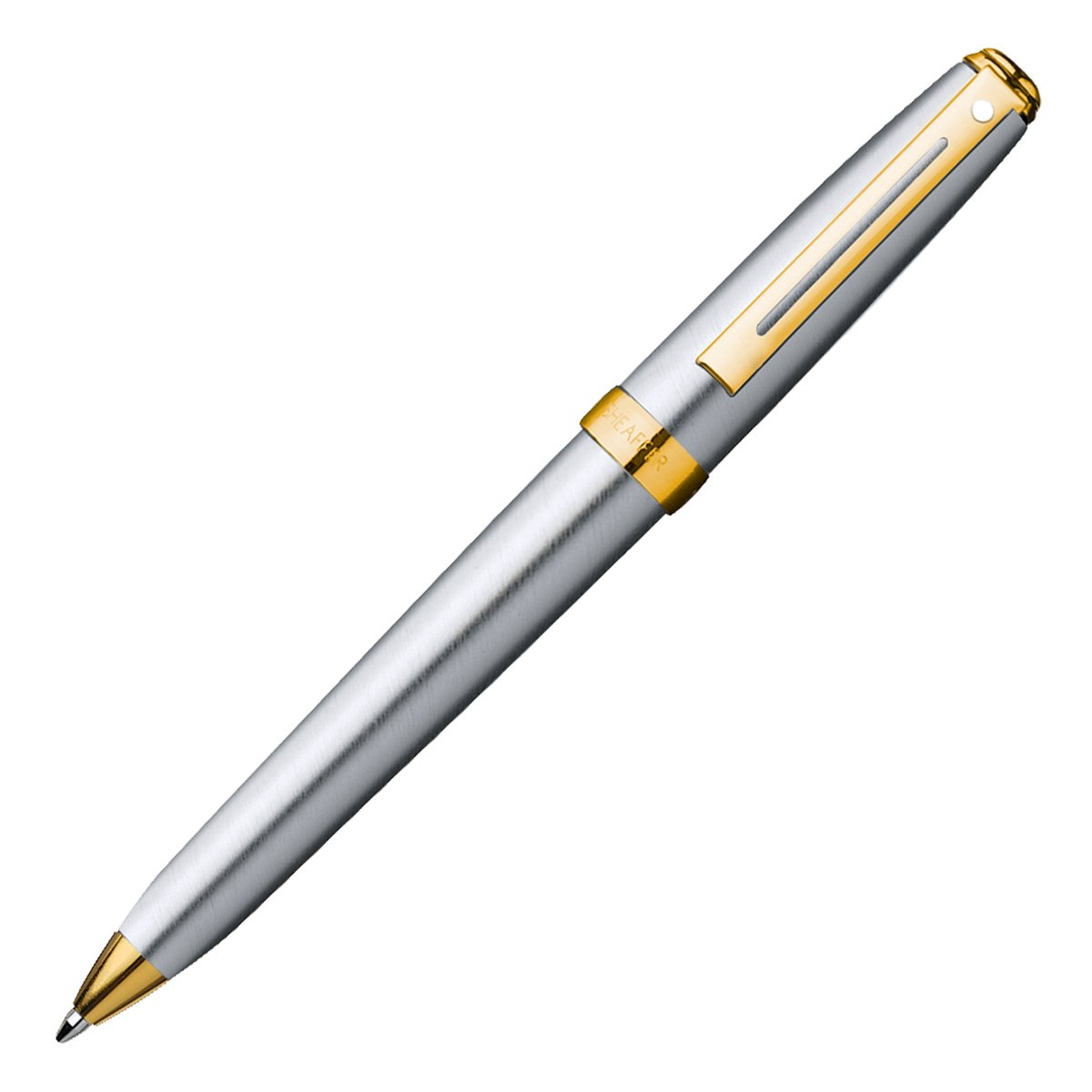 Sheaffer Prelude, Brushed Chrome Plate Featuring 22KT Gold Plate Trim, 0.7mm Pencil (E3342)