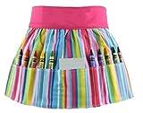 Princess Linens Doodlebugz Crayon Apron Pink Striped