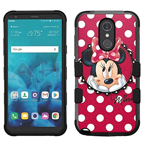(LG Stylo 4 Case, LG Q Stylus Case, LG Stylus 4 Case, Hard+Rubber Dual Layer Hybrid Heavy-Duty Rugged Armor Cover Case - Minnie Mouse #R)