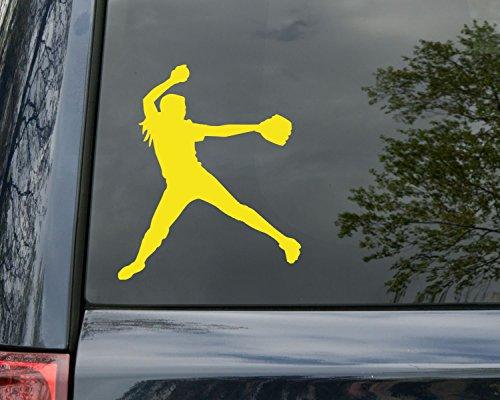 Softball Pitcher Vinyl Decal Sticker 5