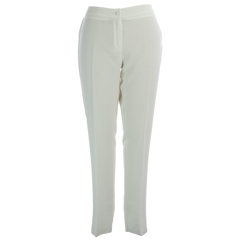 Marina Rinaldi Women's Revival Straight Leg Dress Pants 14W / 23 White