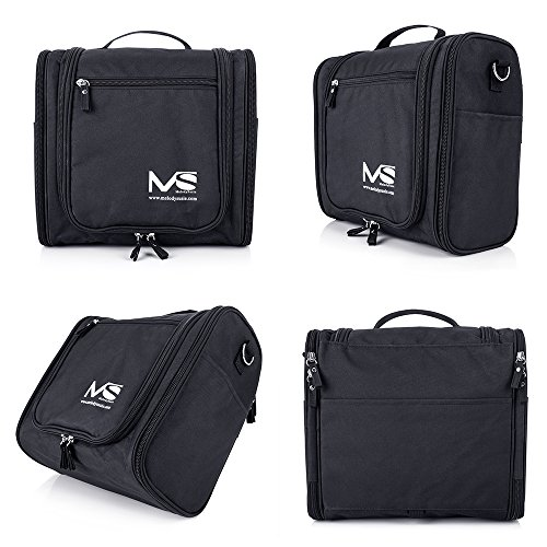 MelodySusie Large Hanging Travel Toiletry Bag Women Men Waterproof Cosmetic Makeup Organizer Bag Shaving Kit