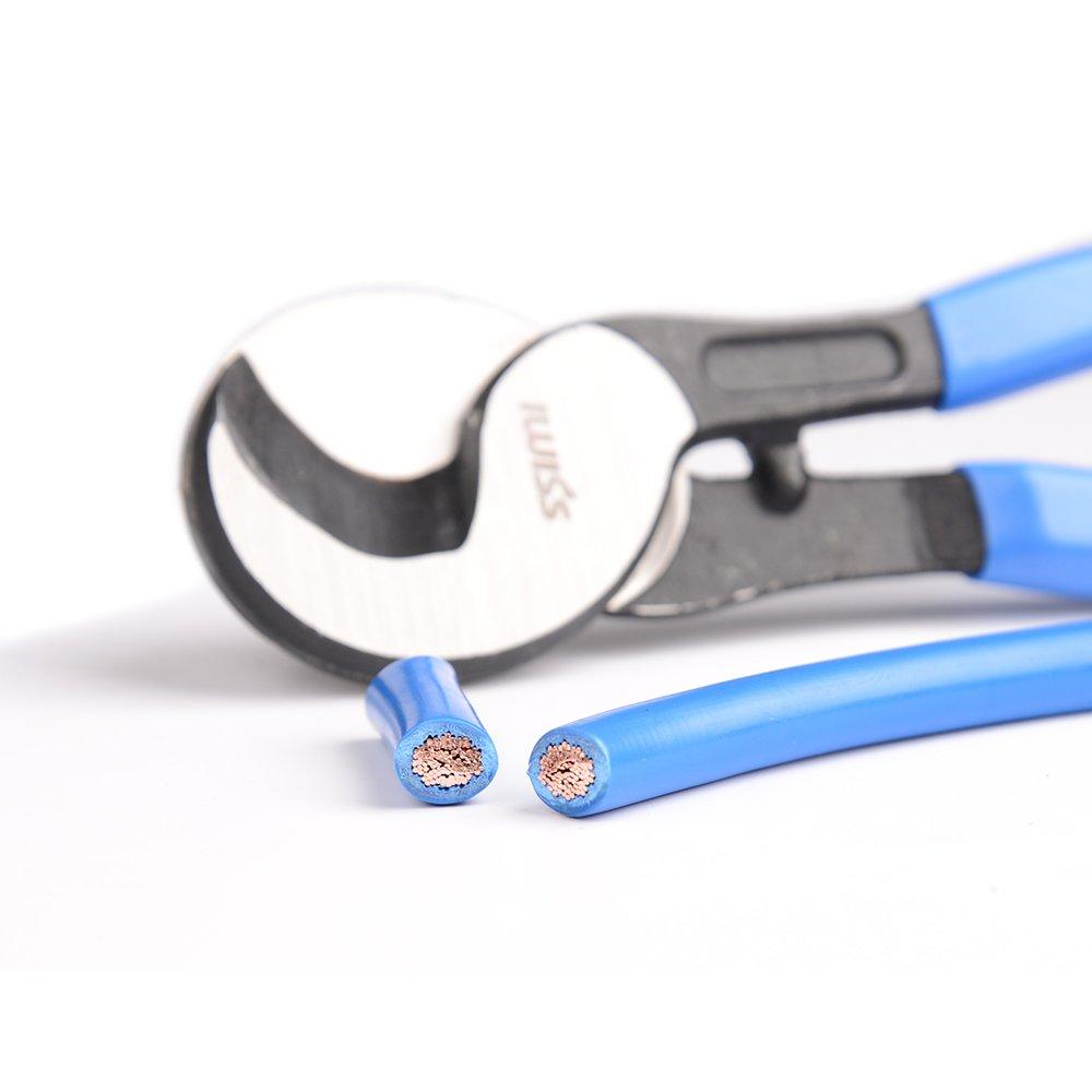 50/mm/² iwiss Cosse de c/âble /à sertir Pince /à sertir Pince /à sertir /à cliquet Pince /électricien main C/âble 6 AWG 10/–1//0
