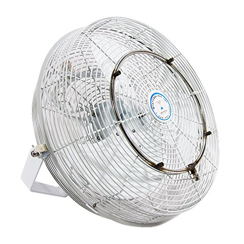 High Velocity Outdoor Mist Fan - White Fan - for Patio Cooling, Restaurant Misting, Industrial Cooling - Rated for Indoor and Outdoor Applications - 3 Speed Fan