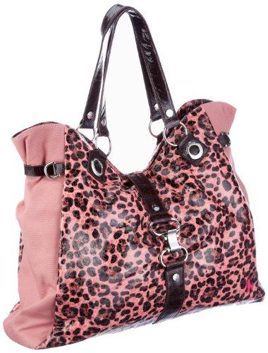 Poodlebags Funkyline - natural wild - Sunday - mauve 3FU0212SUNDM - Bolso de hombro para mujer Rosa