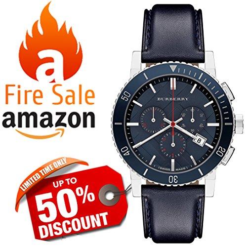 burberry blue dial watch