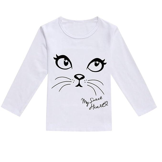 HCFKJ Ropa De Bebe NiñO PequeñO Bebé NiñOs NiñOs Chicas Primavera Dibujos Animados Imprimir Tops Camiseta Ropa Casual: Amazon.es: Ropa y accesorios