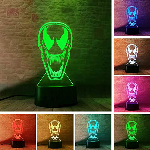 VIET STAR Figuras Agents Model 3D Led Illusion Night 7 Colors Changing Movable Body Figure Toys- Complete Series Merchandise -Multicolor Complete Series Merchandise