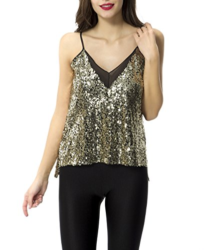 Tribear Womens Sequins Glossy Spaghetti product image