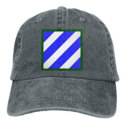 Army 3rd Infantry Division Low Profile Plain Baseball Cap Vintage Washed Adjustable Dad Hat Outdoor Caps