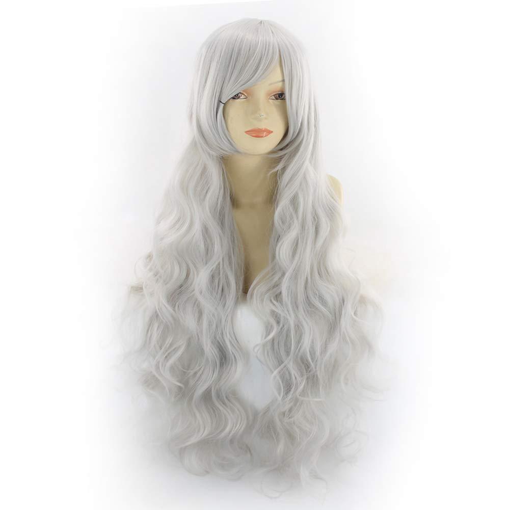 Peluca gris mujer