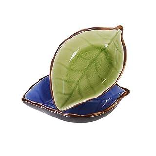 Plato de cerámica hecho a mano YOSPOSS KZ9527-W147 estilo japonés vajilla vinagre plato de salsa de soja plato de condimento plato de hueso creativo plato de aperitivos 4 unidades
