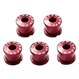 Corki Double Chainring Bolts Kit 7075 Alloy M8 Red 5-Pack