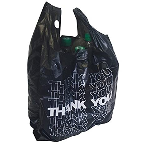 50 x Bolsa de Transporte de Negro kibel entragetasche Bolsa Bolsa de plástico Thank You 54 x 28 + 12 cm 24 My 15L
