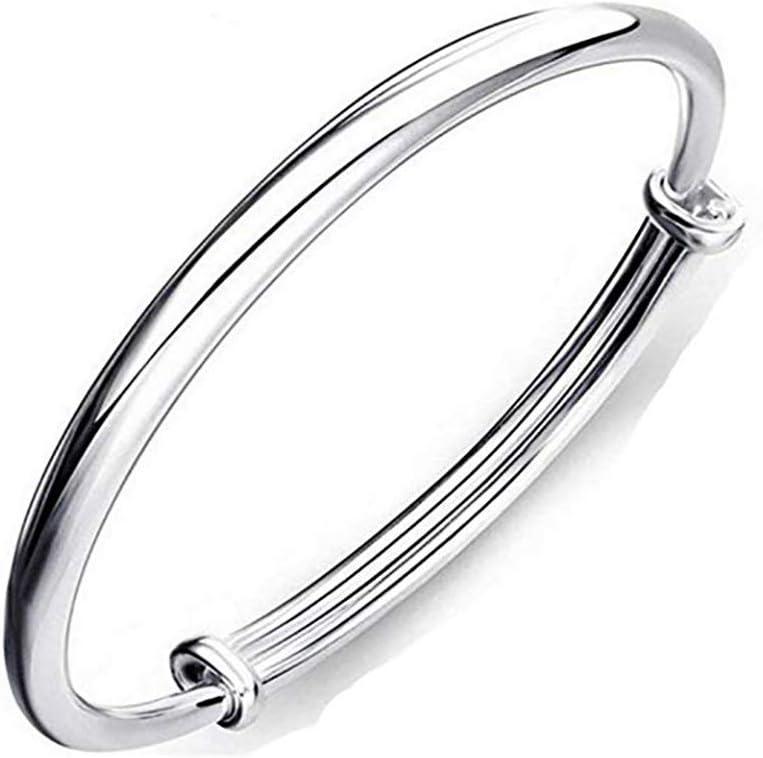 Bracelet rond en argent sterling 925 pour femme ou fille /à porter au quotidien et autres occasions.