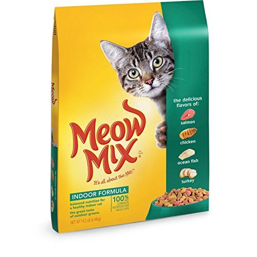 The Meow Mix Indoor Formula Dry Cat Food, 14.2-Pound, New, (1)