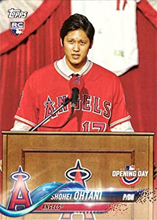 Image result for 2018 topps opening day shohei ohtani