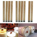 Kangnicce 10Pcs Candle Wood Wick with Sustainer Tab Candle Making Supply 3 Sizes New (12.5mm x 150mm)