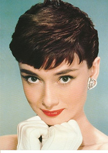 BEYONDTHEWALL Archive Audrey Hepburn Close Up Red Lips Celebrity Icon Print (24x36 Unframed -