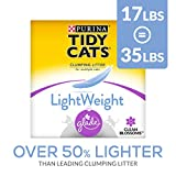Purina Tidy Cats Light Weight - Dust Free - Clumping Cat Litter - LightWeight Glade Clean Blossoms Multi Cat Litter - 17 lb. Box