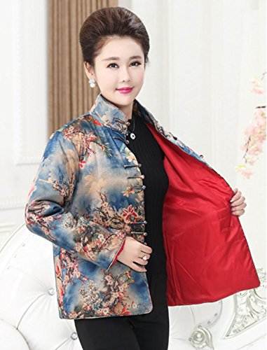 98% Mulberry Silk (water gauze technics) Womens Tang Suits Cotton-padded Jackets Coats Womens Jackets Business Jackets Full Dress Formal Dress Winter Dress (88-2) by Womens Tang Suit (Image #1)