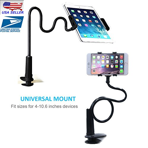 360° Rotate 70CM Long Arm Tablet Stand Holder For iPad Pad Tablet Clamp on Bed