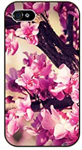 Pink cute flowers - iPhone 4 / 4s black plastic case / Flowers and Nature, floral, flower