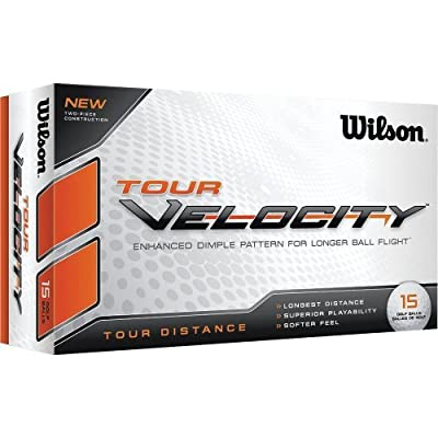 Wilson Tour Velocity Distance Golf Ball (15-Pack), White by Wilson