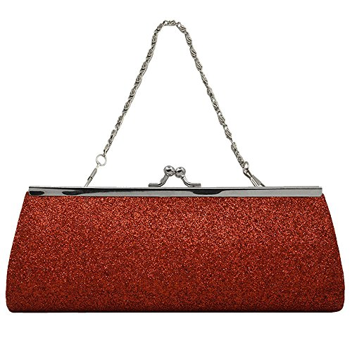 Purse Party Wallet Red Clutch Sparkly Handbag Prom Wedding Glitter Ladies Bridal Women Evening Girls Hqf1xw7qC