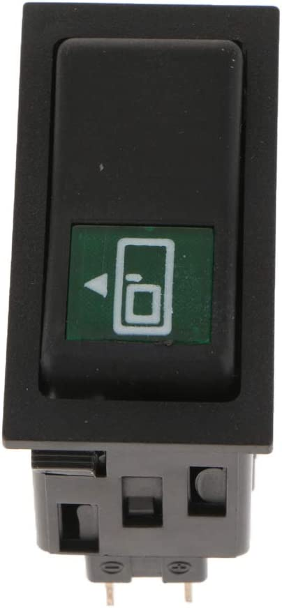 Green LED Light Rocker Toggle Switch SPST ON Off Car Truck Boat 6Pins