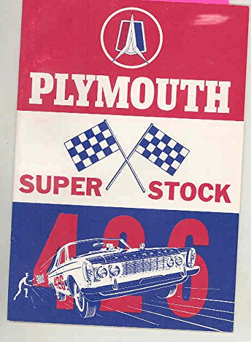 1963 Plymouth 426 Hemi Super Stock ORIGINAL Owner's Manual