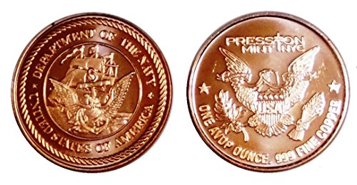 1 – 1 Ounce Navy Tribute Copper Round Collection No Grade