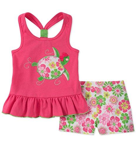 - Kids Headquarters Girls' Little 2 Pieces Shorts Set, Melon Pink, 6X