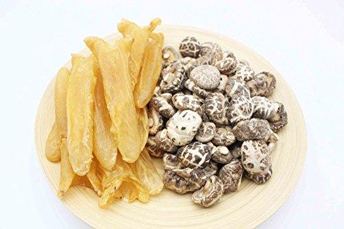 China Good Food Set-24 Dried Medium Fish Maw Roll 中花膠筒 x Dried Flower Mushroom 花菇 Free Airmail by China Good Food