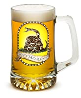 Beer Mugs with Handles – US Marine Corps Tankard Beer Mug – Don't Tread On Me Marine Gifts for Men or Women – Beer Glass with Logo (25 Ounces)