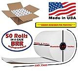 3' 165' FT 1 Ply Bond Paper (50 Rolls) Kitchen Printer Paper from BuyRegisterRolls