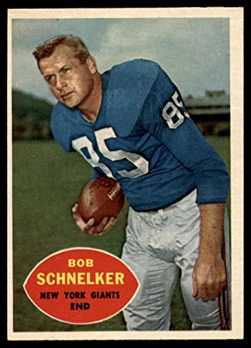 Football NFL 1960 Topps #76 Bob Schnelker NM NY Giants