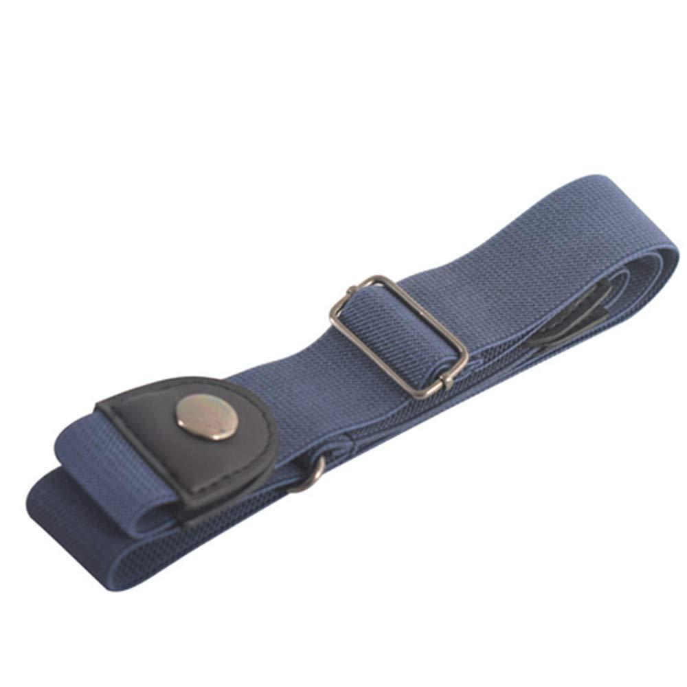 No Buckle Stretch Belt 3 Pack,Plainmarsh 3 Color Buckle Free Belt Invisible Elastic Belt Unisex for Jeans Pants