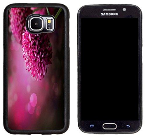 Black Dahlia Case (Rikki Knight Purple Dahlia Autumn Flower Design Samsung Galaxy S6 Case Cover - Black)