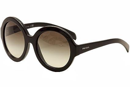 94424b597b04 Prada Conceptual Super Round Sunglasses in Black PR 06RS 1AB0A7 56 56  Gradient Grey