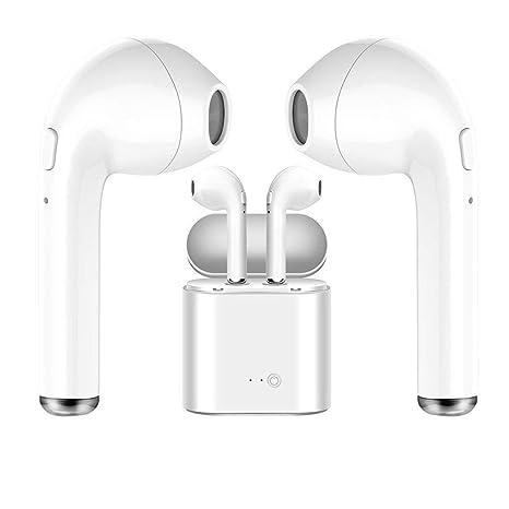 Auriculares inalámbricos Bluetooth Blancos, útiles para quienes practican Deportes, para Escuchar música y Ver