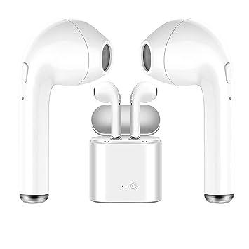 Auriculares inalámbricos Bluetooth Blancos, útiles para quienes practican Deportes, para Escuchar música y Ver películas.