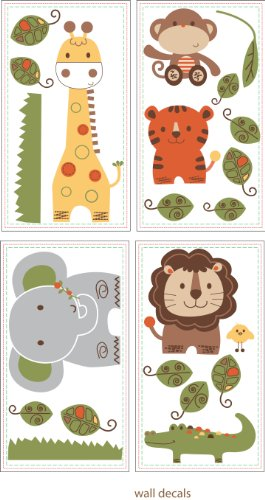 Sheet Kidsline (Kids Line Decals, Jungle Walk (Discontinued by Manufacturer))
