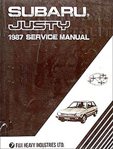 1987 subaru justy repair shop manual original subaru amazon com books rh amazon com subaru shop manual printed helm subaru impreza shop manual pdf