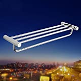 HJKLL-Fashion double towel racks, brass chrome bathroom hardware accessories, solid and double Towel rack , Double rod